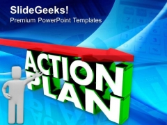 Make A Action Plan For Business PowerPoint Templates Ppt Backgrounds For Slides 0513
