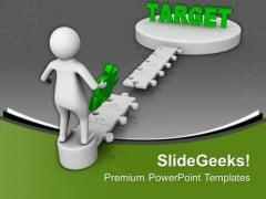 Make A Bridge For Achieving Target PowerPoint Templates Ppt Backgrounds For Slides 0713