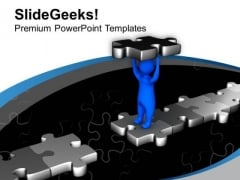 Make A Bridge Of Connectivity PowerPoint Templates Ppt Backgrounds For Slides 0613