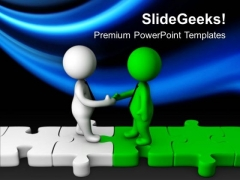Make A Bridge With Clients Relation PowerPoint Templates Ppt Backgrounds For Slides 0713