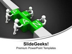 Make A Business Plan For Success PowerPoint Templates Ppt Backgrounds For Slides 0613