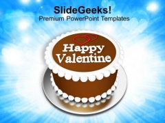 Make A Cake For Valentine Day PowerPoint Templates Ppt Backgrounds For Slides 0713