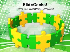 Make A Circle To Grow Business PowerPoint Templates Ppt Backgrounds For Slides 0413