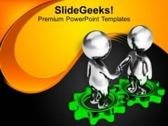 Make A Deal With Business Person PowerPoint Templates Ppt Backgrounds For Slides 0613