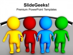 Make A Diverse Team For Business Relation PowerPoint Templates Ppt Backgrounds For Slides 0613