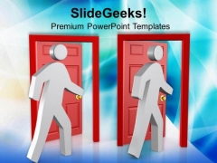 Make A Door To Escape In Emergency PowerPoint Templates Ppt Backgrounds For Slides 0713
