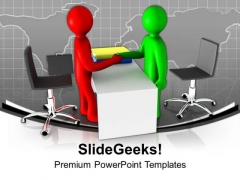 Make A Partners In Business PowerPoint Templates Ppt Backgrounds For Slides 0613