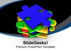Make A Stack Of Puzzle PowerPoint Templates Ppt Backgrounds For Slides 0613