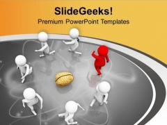 Make A Understanding On Brain Level In Team PowerPoint Templates Ppt Backgrounds For Slides 0613