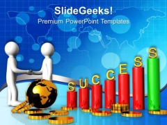Make Global Relation For Business Growth PowerPoint Templates Ppt Backgrounds For Slides 0613