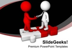 Make Good Partners In Business PowerPoint Templates Ppt Backgrounds For Slides 0613