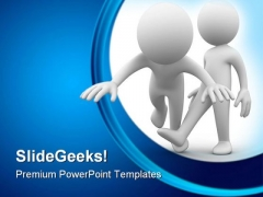 Make Him Fall Down Business PowerPoint Themes And PowerPoint Slides 0511