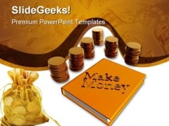 Make Money Business PowerPoint Background And Template 1210