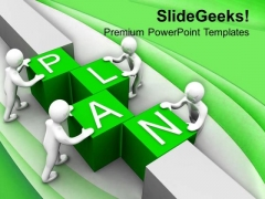 Make Plan For Business Growth PowerPoint Templates Ppt Backgrounds For Slides 0513