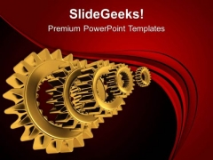 Make The Right Track With Gears PowerPoint Templates Ppt Backgrounds For Slides 0613