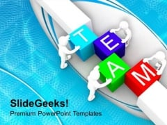 Make The Team For Business Growth PowerPoint Templates Ppt Backgrounds For Slides 0513