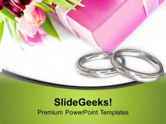 Make Your Wedding Special With Rings PowerPoint Templates Ppt Backgrounds For Slides 0513