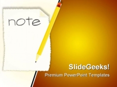 Making A Note Business PowerPoint Templates And PowerPoint Backgrounds 0711