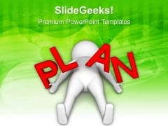 Making A Plan Is Very Essential PowerPoint Templates Ppt Backgrounds For Slides 0613