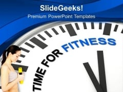 Making Time For Fitness Health PowerPoint Templates Ppt Backgrounds For Slides 0413