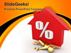 Man Crushed Percent Realestate PowerPoint Backgrounds And Templates 1210