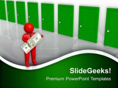 Man Deciding Which Way To Go PowerPoint Templates Ppt Backgrounds For Slides 0713