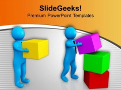 Man Helping His Partner PowerPoint Templates Ppt Backgrounds For Slides 0713
