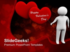 Man Is Explaining The Love Media PowerPoint Templates Ppt Backgrounds For Slides 0213