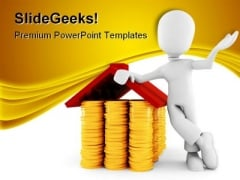 Man Saving Money Finance PowerPoint Themes And PowerPoint Slides 0211