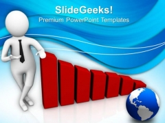 Man Shows Progress Of Business PowerPoint Templates Ppt Backgrounds For Slides 0813