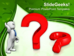 Man Thinking With Question Mark PowerPoint Templates Ppt Backgrounds For Slides 0213