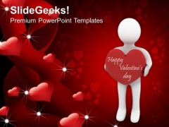 Man With A Heart Youth Valentines Day Youth PowerPoint Templates Ppt Backgrounds For Slides 0213