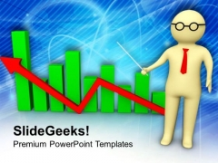 Man With Business Chart PowerPoint Templates Ppt Backgrounds For Slides 0713