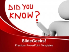 Man With Did You Business PowerPoint Templates And PowerPoint Themes 0612
