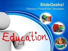Man With Education PowerPoint Templates And PowerPoint Themes 0712