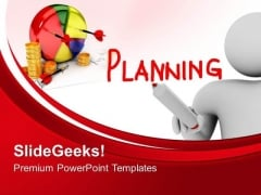 Man With Planning Business PowerPoint Templates And PowerPoint Themes 0612