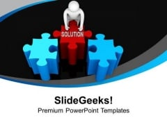 Manage To Fix Solution For Problem PowerPoint Templates Ppt Backgrounds For Slides 0513