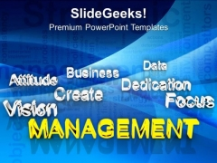 Management At Forefront Business Success PowerPoint Templates Ppt Backgrounds For Slides 0213