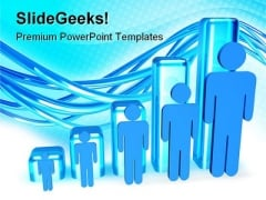 Manpower Graph People PowerPoint Templates And PowerPoint Backgrounds 0811