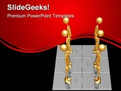 Manpower Puzzle01 Business PowerPoint Templates And PowerPoint Backgrounds 0711