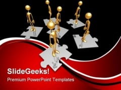 Manpower Puzzle Business PowerPoint Templates And PowerPoint Backgrounds 0711