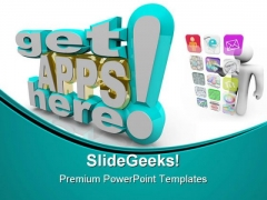 Many Applications Technology PowerPoint Themes And PowerPoint Slides 0411