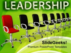 Many Chairs In Row Leadership Concept PowerPoint Templates Ppt Backgrounds For Slides 0113