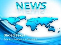 Map With News Global PowerPoint Templates And PowerPoint Themes 0712