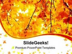 Maple In Autumn Forest Nature PowerPoint Templates And PowerPoint Backgrounds 0411