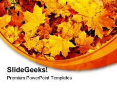 Maple Leaf Nature PowerPoint Themes And PowerPoint Slides 0411