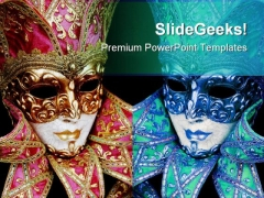 Mardigras Mask Art PowerPoint Themes And PowerPoint Slides 0711