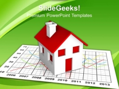 Market Growth Real Estate PowerPoint Templates And PowerPoint Themes 0912