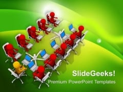 Marketing Business Meetings Theme PowerPoint Templates Ppt Backgrounds For Slides 0613