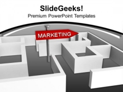 Marketing Concept With Labyrinth Business PowerPoint Templates Ppt Backgrounds For Slides 0113